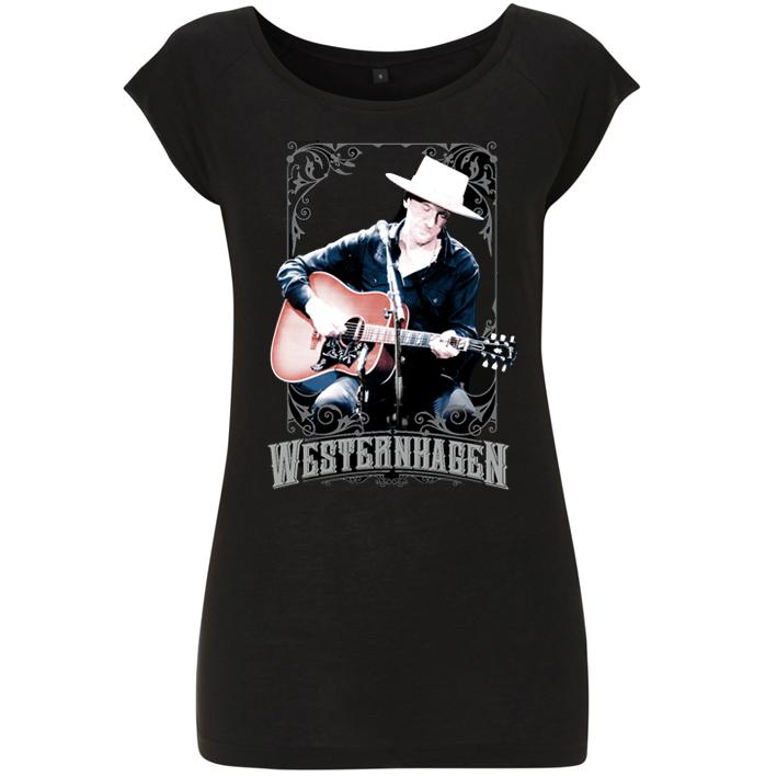 Westernhagen Foto T-Shirt Damen Girlie, black