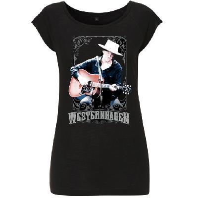 Westernhagen Foto T-Shirt Damen Girlie schwarz