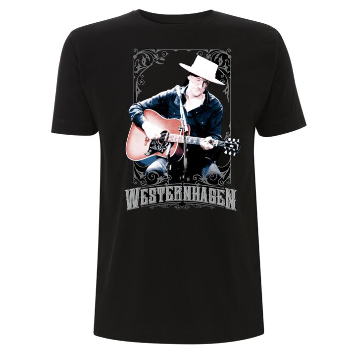 Westernhagen Foto T-Shirt Herren Shirt schwarz