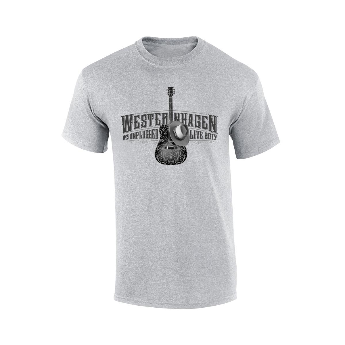 Westernhagen Guitar T-Shirt Herren Shirt, grau meliert
