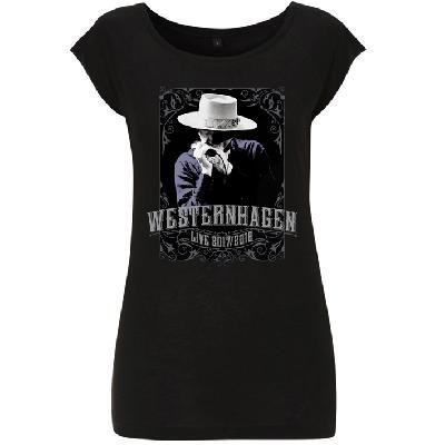 Westernhagen Tour T-Shirt Damen Girlie schwarz