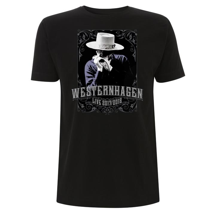 Westernhagen Tour T-Shirt Herren Shirt, schwarz