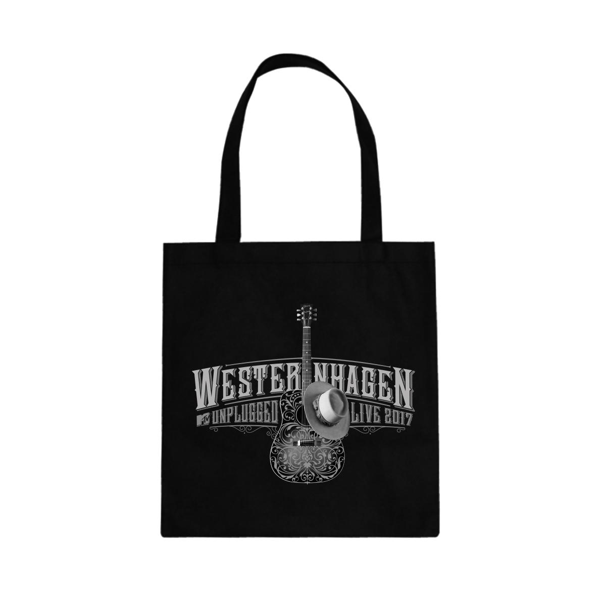 Westernhagen Unplugged Tote Bag Tasche, Schwarz